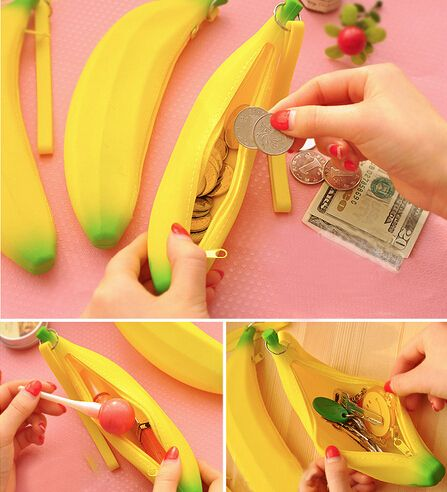 $1.60// Silicon banana purse// Delivery: 2-4 weeks