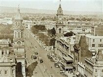 King William St,Adelaide in South Australia in 1927.