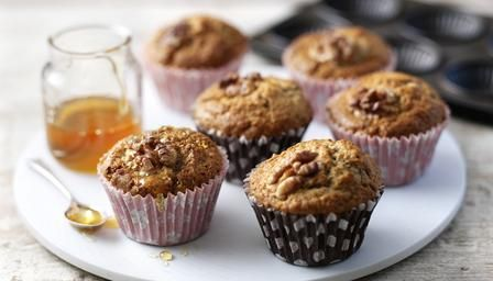 This is the basis for my banana rum muffins that everyone always asks me about. Just add chocolate drops, as much rum as you like and extra baking powder to make it a bit lighter. I also leave out the nuts. I also use vanilla bean extract and not essence. That's my rule in everything I make. You can mess with this and change it to your taste.