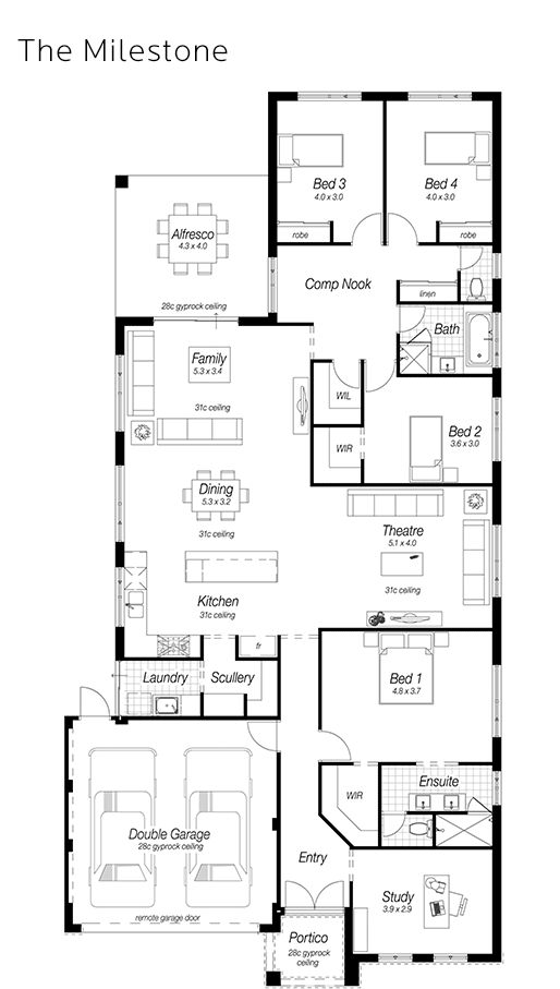 Best 25 single storey house plans ideas on pinterest for Ross north home designs