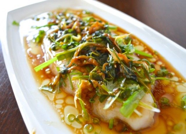Cantonese Steamed Fish- looks like the dipping sauce served with the steamed dumplings, can't wait to try!