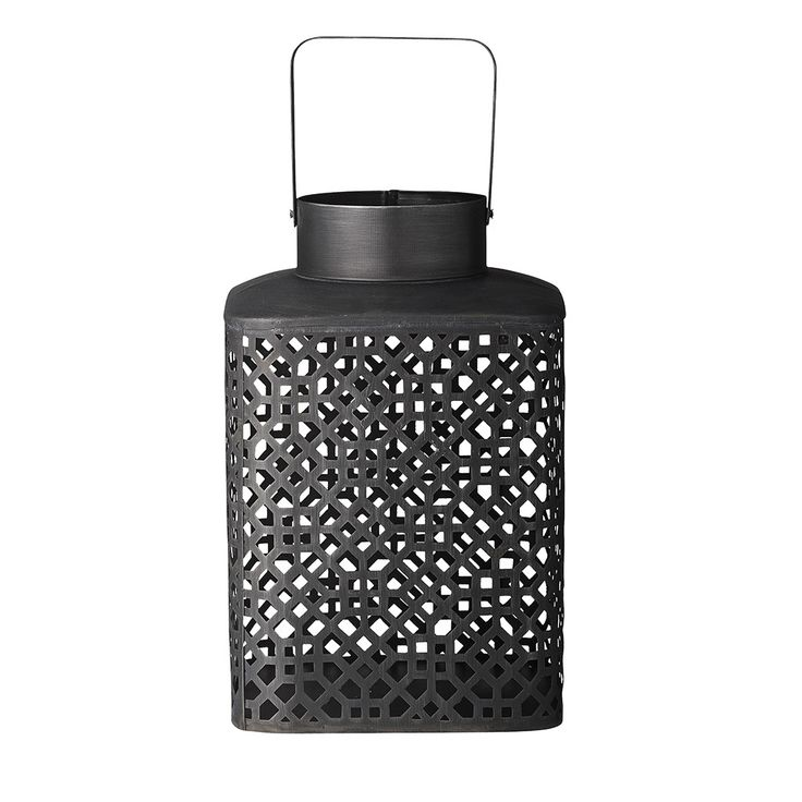 Bring rustic charm to any room with this Jaipur Lantern from Day Birger et Mikkelsen. Iron has been finished in a black colour to create its striking appearance, with a trellis-like detailing adorning