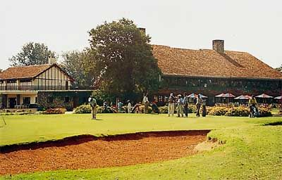 Karen Country Club, Nairobi, Kenya. I remember the very cold pool, squash courts, and tennis on the red clay courts.
