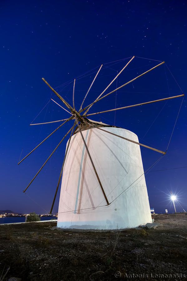 Windmill in Antiparos, Greece