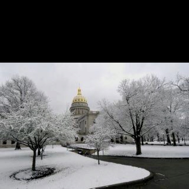 Charleston, West Virginia state capitol building.