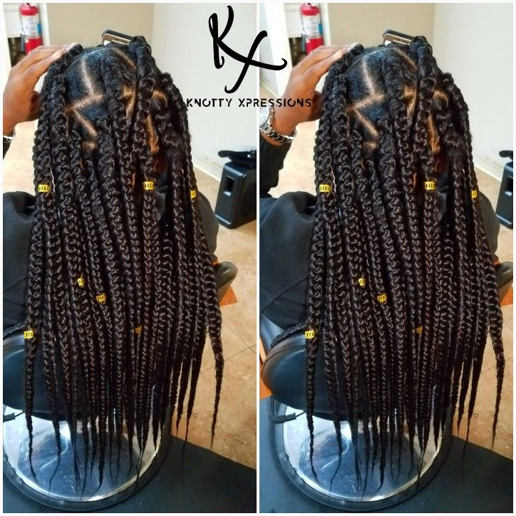 Jumbo Triangle Box Braids Knottyxpressions
