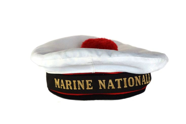 Vintage French Warship Sailor Beret National Navy Hat With Etsy In 2020 Navy Hats French Vintage 70s Fashion Dresses