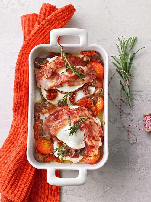 Gefüllter Mozzarella aus dem Ofen