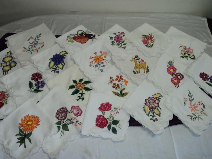 fabric painting on handkerchief handkerchief pinterest