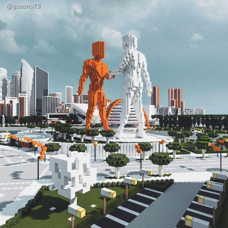 Minecraft Statues in 2020 Minecraft city, Minecraft