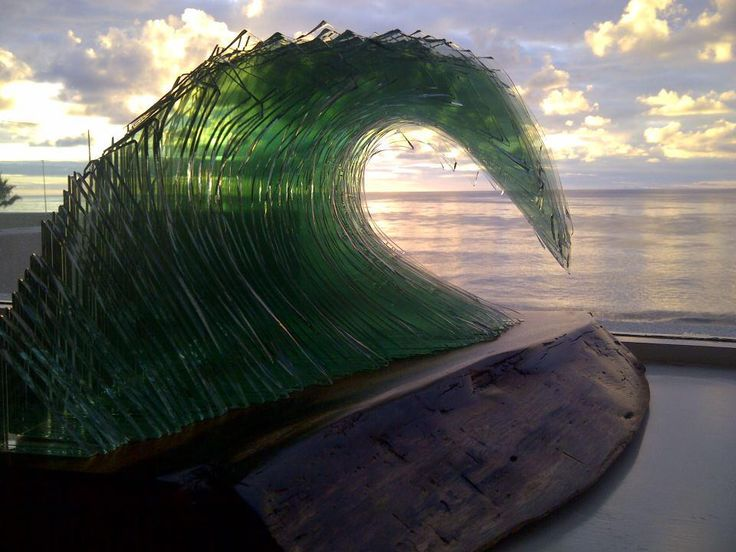 Sandra's Surfing Wave Sculpture Statue