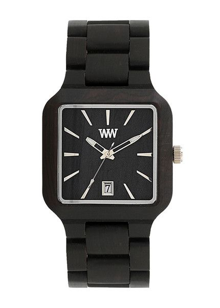 Beautiful eco friendly WeWood watch - the metis black is made  from 100% wood and features miyota movement. $120 | WeWood New Zealand.