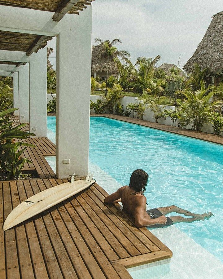 A Designed Surf Hideaway At Swell Hotel Guatemala Best Surfing Spots Outdoor Lounge Area Hideaway