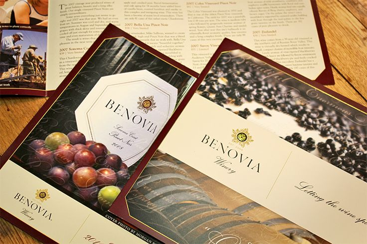 Benovia Winery | Release Announcements | by designthis!