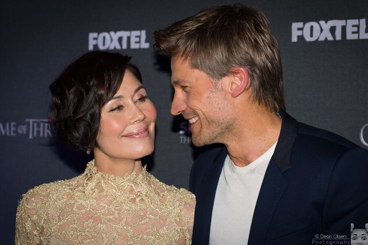Nikolaj Coster-Waldau with wife Nukaaka. What a lovely couple.