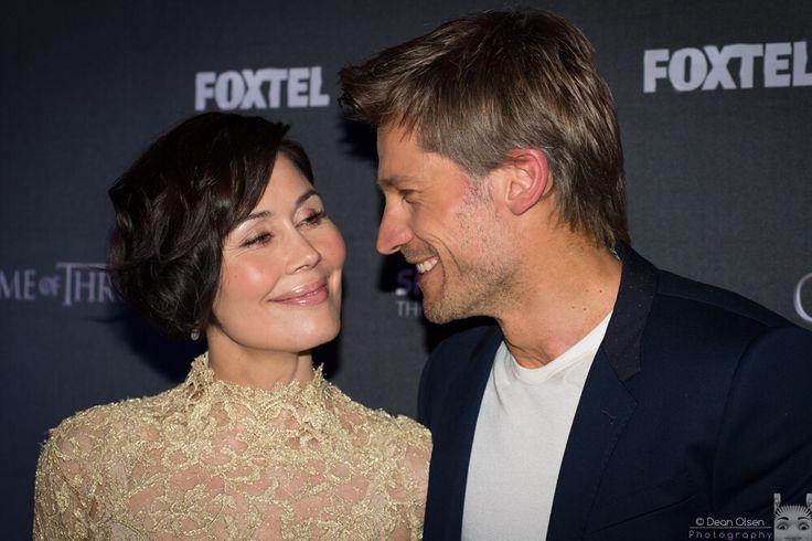 Nikolaj Coster-Waldau with wife Nukaaka. What a lovely couple.