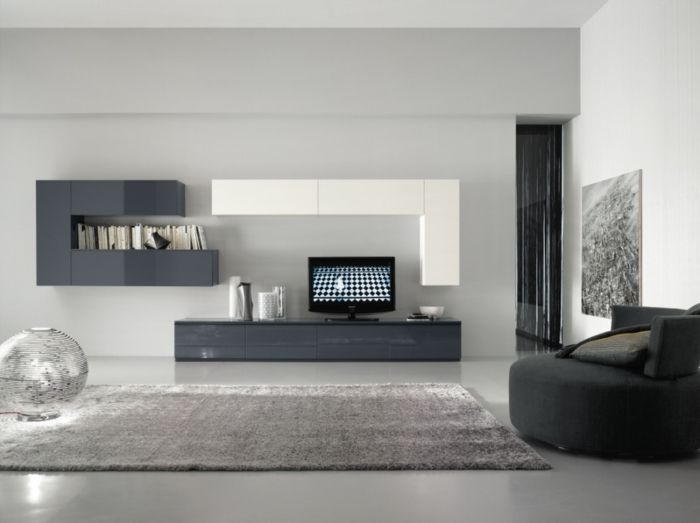 Front View Of The Wall System, With The Typical Horizontal And Vertical  Hanging Cabinets To Create The So Called U0027tetrisu0027 Effect: Practical,  Artistic And ...