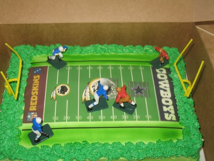 Cowboys vs Redskins Cake