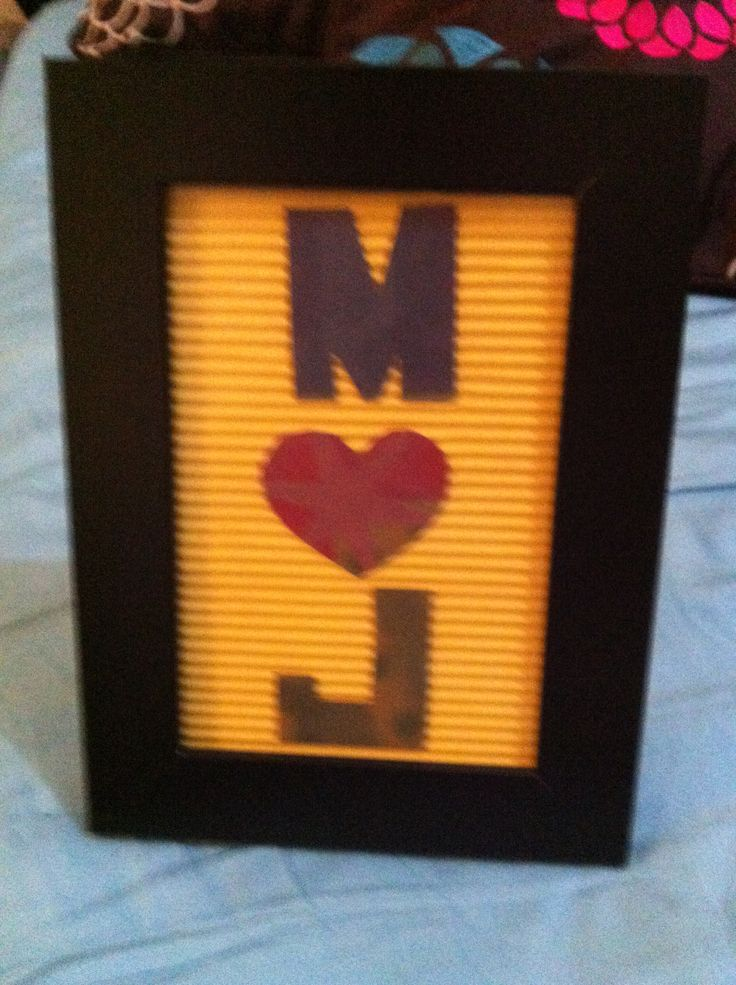 13 best imy finished projects images on pinterest letter simple letter cut out in a frame spiritdancerdesigns Images