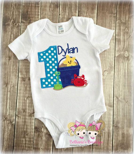 Beach Themed Birthday Shirt For Boy 1st Birthday Beach Shirt