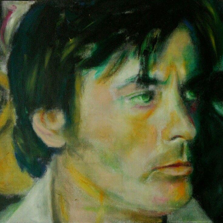 Alain Delon (oil) - vissarion g
