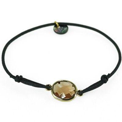 """Lua - Armband """"Leath"""" - Gold/Schwarz"""