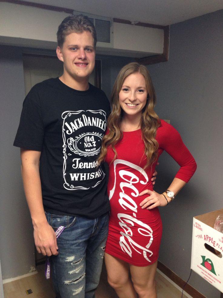 Jack Daniels and Coca Cola #jackdaniels #cocacola #couple #costume #halloweeen #jackandcoke