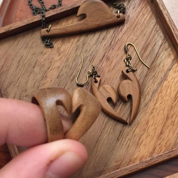 Wood twin rings  Love gift  #woodgift