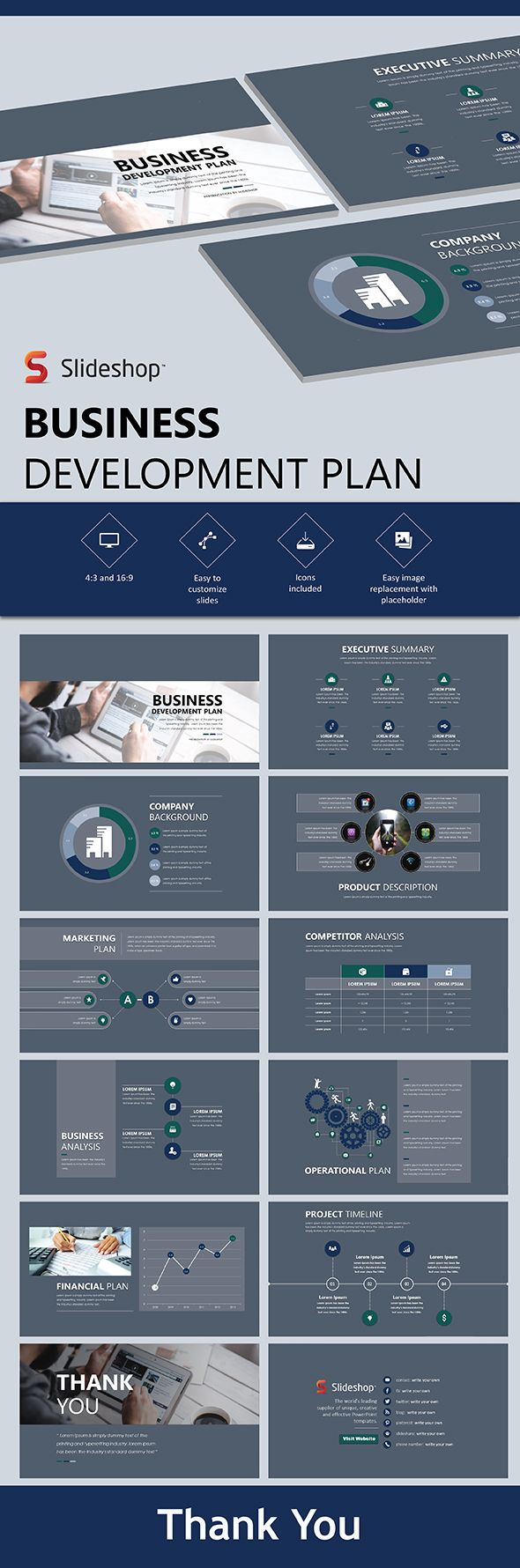 111 best business marketing powerpoint slides images on pinterest buy business development plan by slideshop on graphicriver a highly editable presentation template presentation format in pptx users will received two cheaphphosting Gallery