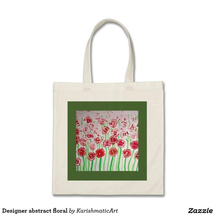 Abstract floral Print Handbag