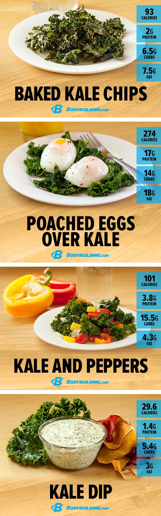 7 Killer Kale #Recipes! Green leafy vegetables rule the nutrition world, but the benefits of kale make it king of the hill. Try these 7 delicious recipes to make this nutritional powerhouse a part of your meal plan! More Green Leaf, Cycling Weights Training, Carb Cycling Weights, Food, Bodybuilding Macros, Macro Recipes, Kale Macros, Fitness Macros, Macros Recipe Kale macro recipes