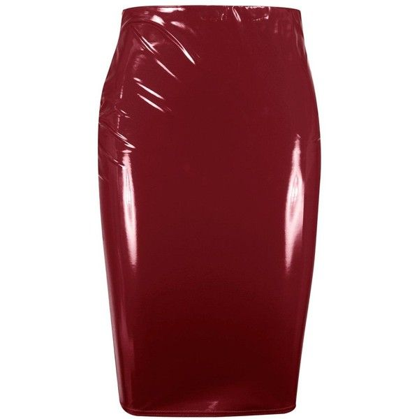 d12f56c4b249 Boohoo Plus Lisa Vinyl Skirt (64 PEN) ❤ liked on Polyvore featuring skirts,  red skirt, red circle skirt, pleated skirt, mini skirts and evening maxi  skirt