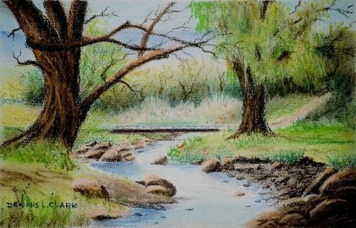 How to Draw a Small Stream in Pastel — Online Art Lessons