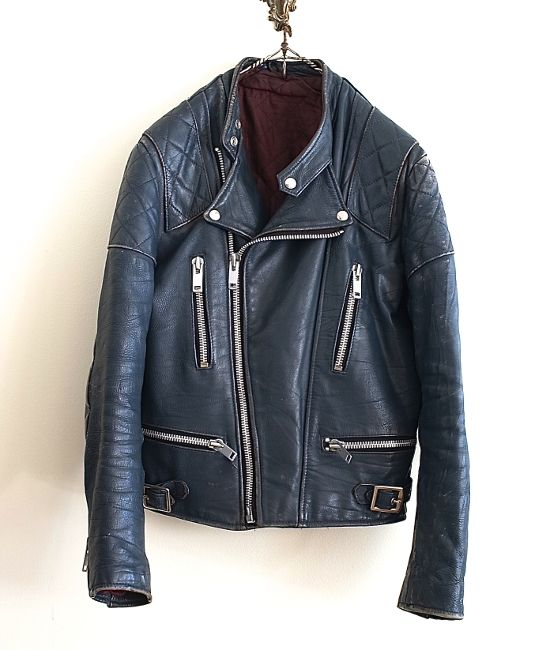 LILY1ST VINTAGE 1970'S BRITISH DAMAGED LEATHER RIDER'S JACKET http://floraison.shop-pro.jp/?pid=80234531