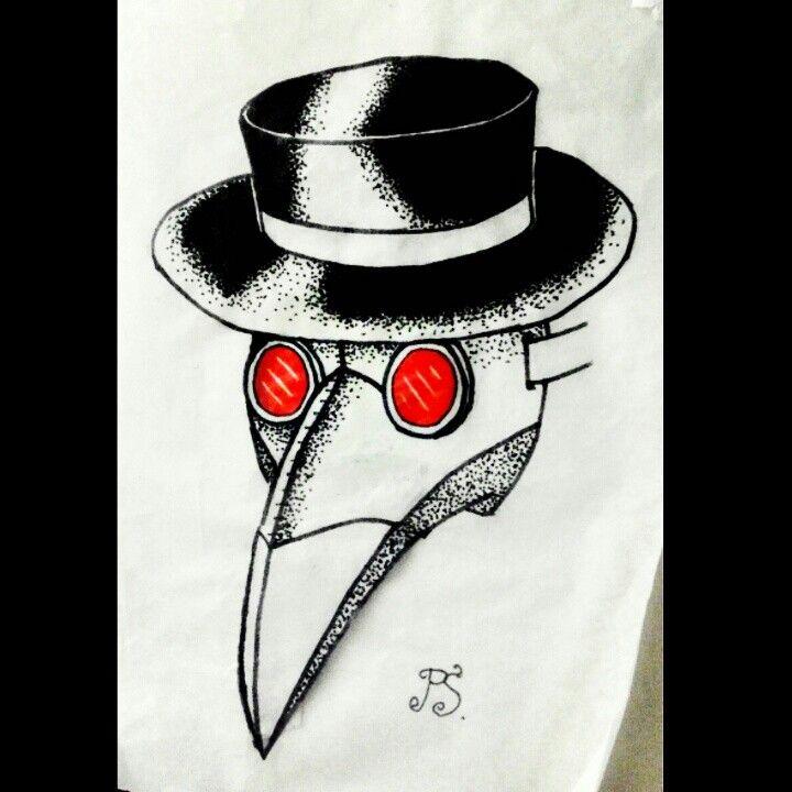 #эскиз #тату #татуировка  #татуэскиз #графика #дотворк #чумнойдоктор #лекарь #врачевательчумы #маска #чернуха #tattoosketch #tattoo #dotwork #graphic #plaguedoctor #mask