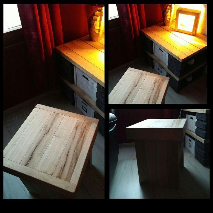 Kleines Sideboard Holz Buche Led DesignerLampe Buchehocker Selbstbau