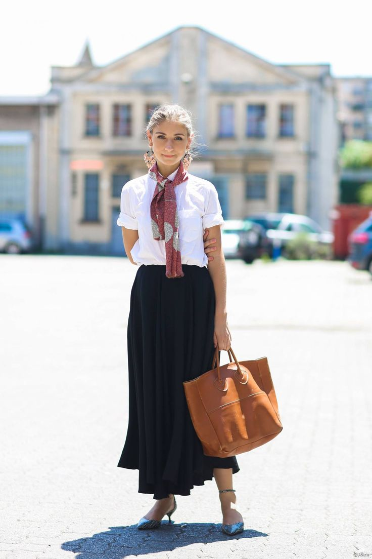 The preppy simmer look from American Jenny Walton.