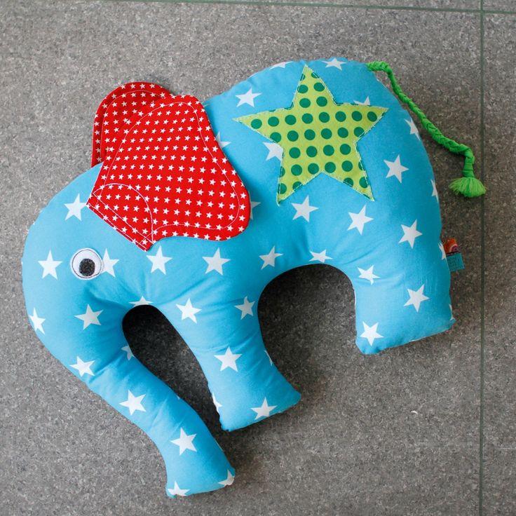 Kostenlose Nähanleitung für den Tag der Handarbeit: Elefantös Sitzkissen - Initiative Handarbeit