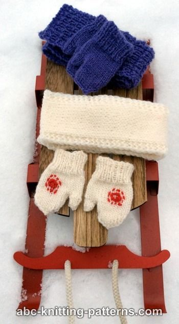 Knitting Patterns For Scarves And Mittens : 1000+ images about American doll clothes knitting on Pinterest American gir...
