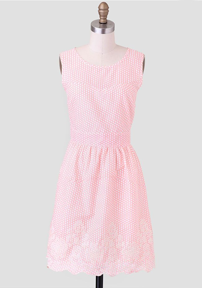 Cute as a button ;) Gabbi Polka Dot Dress By Tulle at Ruche