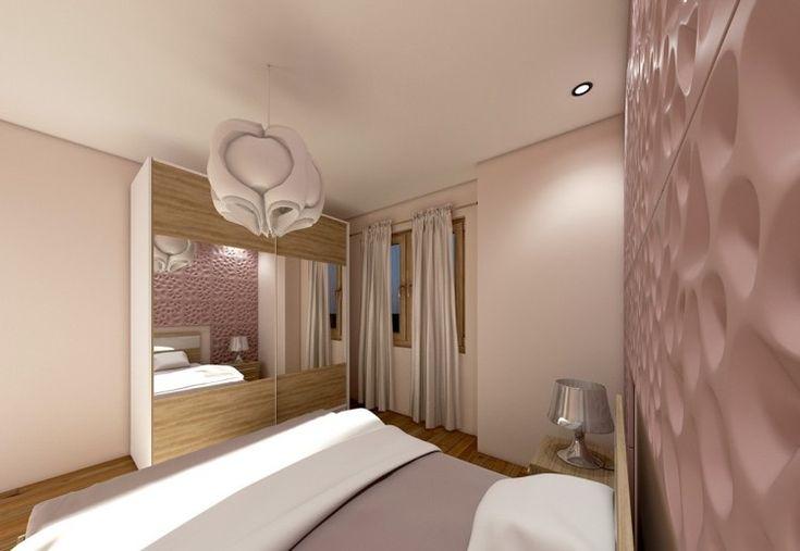 Whirlpool auf dem Schlafzimmer-Balkon durch Glastür abteilen