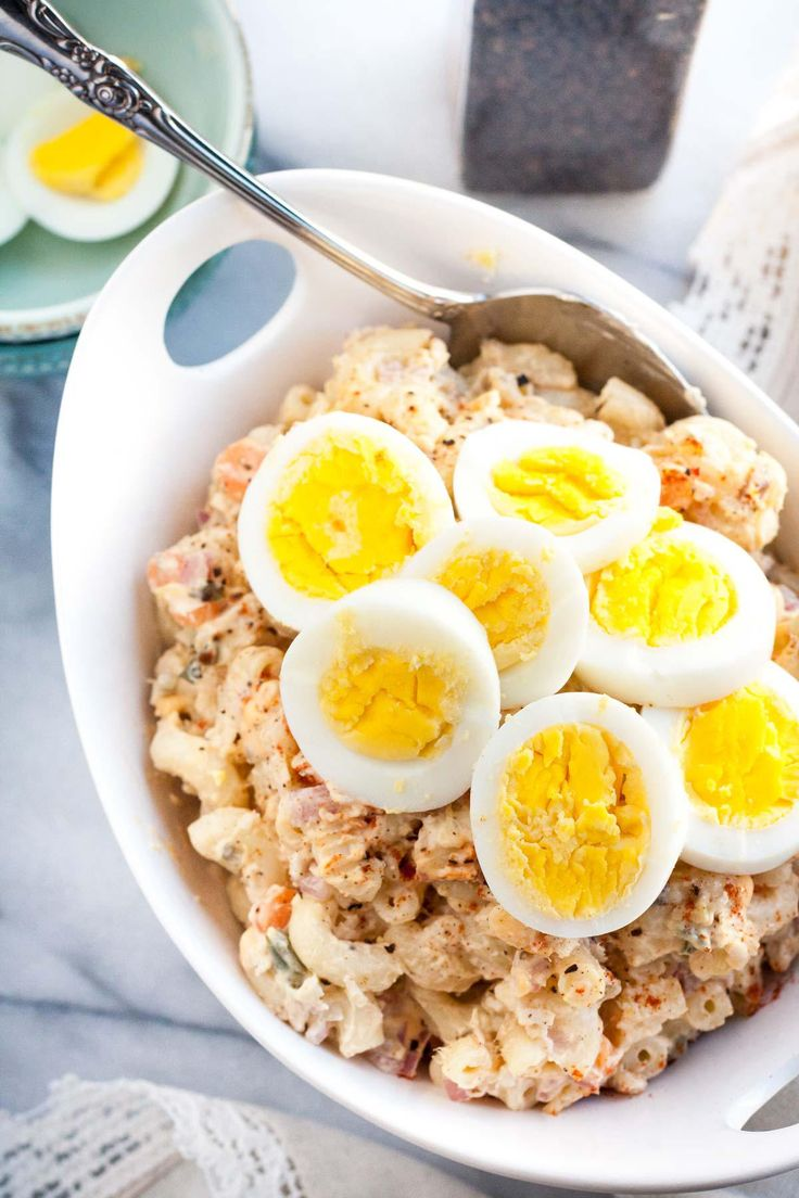 Quick and easy Homestyle Macaroni Salad - a perfect side dish for your summer barbeque. The combination of eggs, carrots, onions, relish, pineapple...