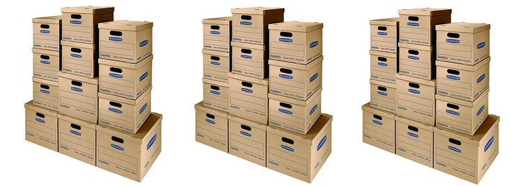 Bankers Box SmoothMove Classic Moving Boxes Kit, Tape-Free Assembly, Small/Med, 12 Pack (7716401) (3 X 12 Pack)