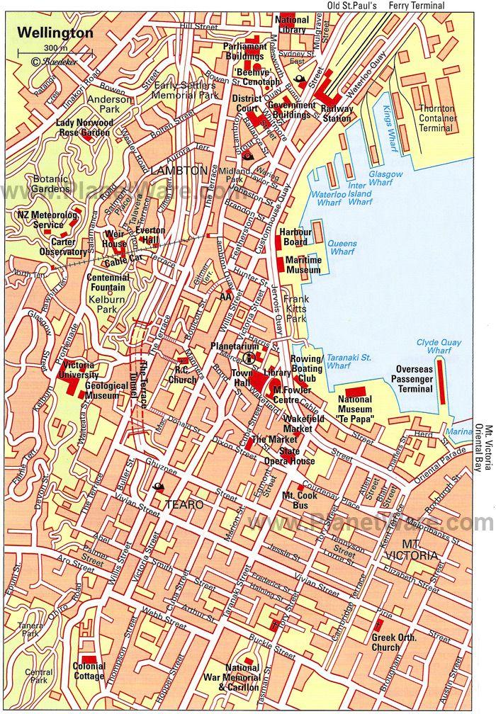 Map of Wellington