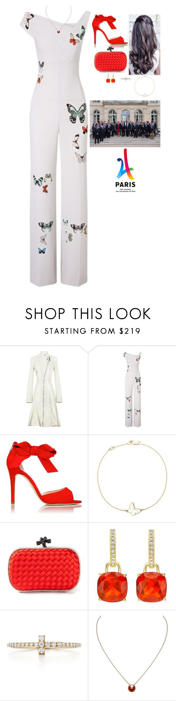 """""""Attending the 2017 presentation of the 2024 Paris Summer Olympics Third Bid Book at Élysée Palace, hosting a cocktail hour afterwards at the Château de Versailles, and flying to London"""" by fashion-royalty ❤ liked on Polyvore featuring Christian Dior, Roland Mouret, L.K.Bennett, Van Cleef & Arpels, Bottega Veneta and Cartier"""
