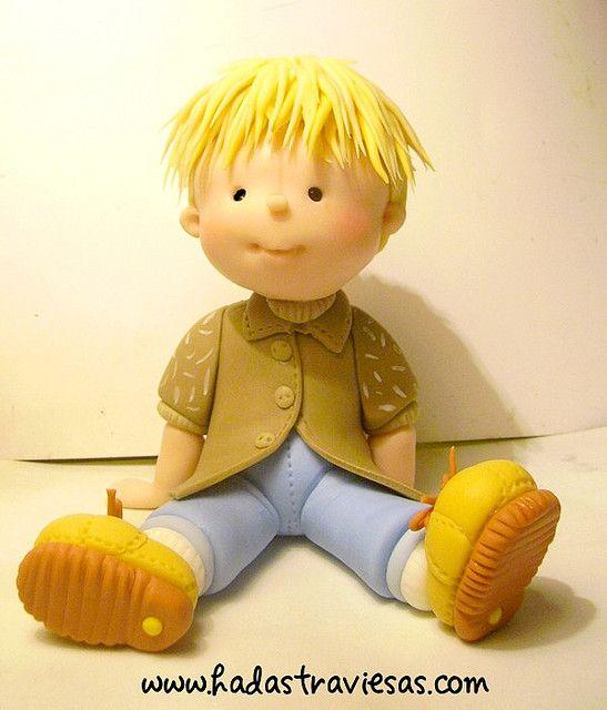 Sweet little boy porcelana fria polymer clay geraldine gabasa