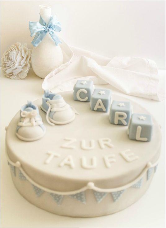 Kuchen fur baby taufe