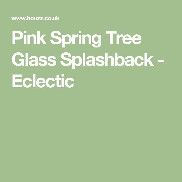 Pink Spring Tree Glass Splashback - Eclectic
