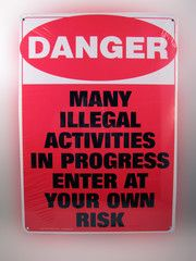 Danger Tin Sign - The One Stop Fun Shop