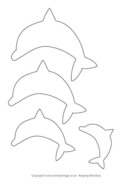 Dolphin Template Cut Out cakepins.com